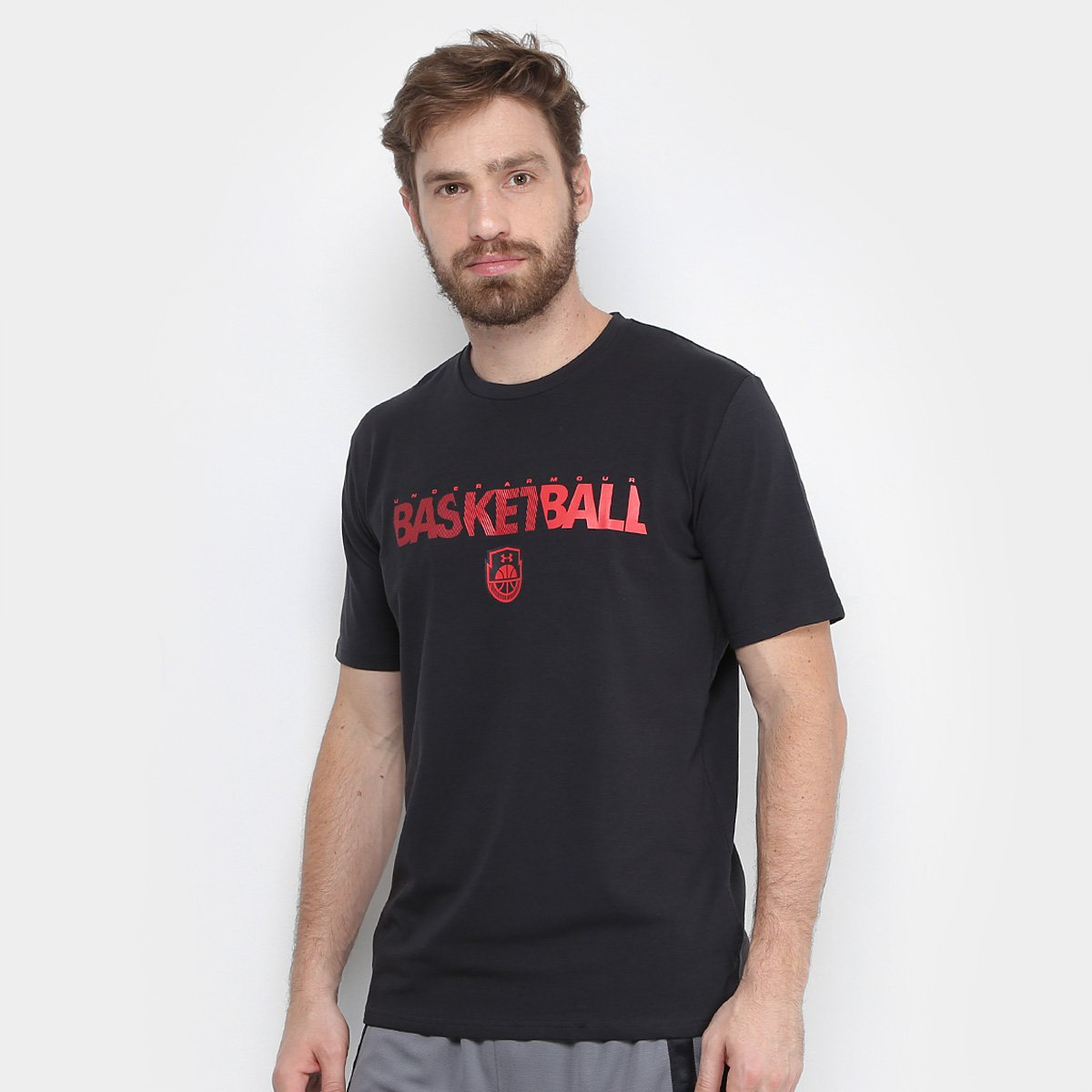 Camiseta Under Armour Wordmark SS Masculina - Compre Agora  4fe83616eb4e0