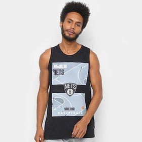 9f95fdea6 Regata NBA Brooklyn Nets Est Court Masculina - Preto - Compre Agora ...