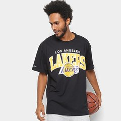 07456db85 Camisa Mitchell   Ness Time Arch Los Angeles Lakers Masculina