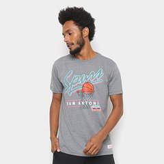 e54ab5d06 Camisa Mitchell   Ness Drive To The Basket San Antonio Spurs Masculina