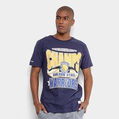 e9ce77bcf1 Camiseta Mitchell   Ness Sportman Crew Golden State Warriors Masculina