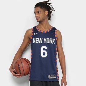 Regata Swingman NBA New York Knicks Kristaps Porzingis JSY City Editio. d35bcd285