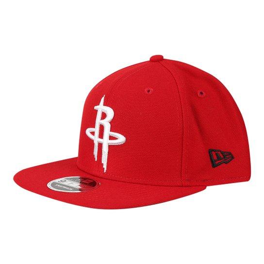 4d13a824fc6c4 Boné New Era NBA Houston Rockets Aba Reta Primary - Compre Agora ...
