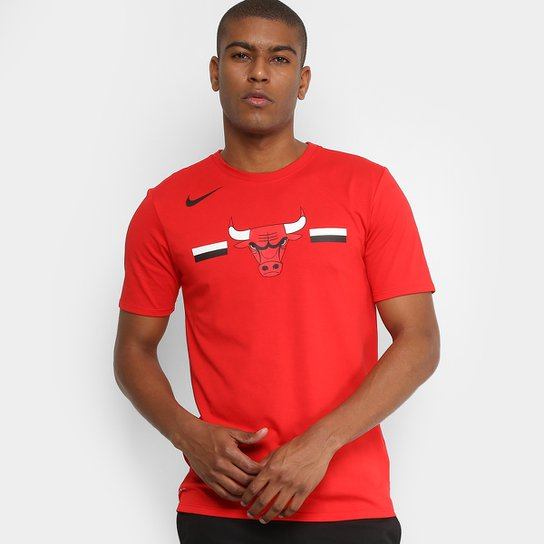Camiseta NBA Chicago Bulls Nike Dry Logo Masculina - Loja NBA