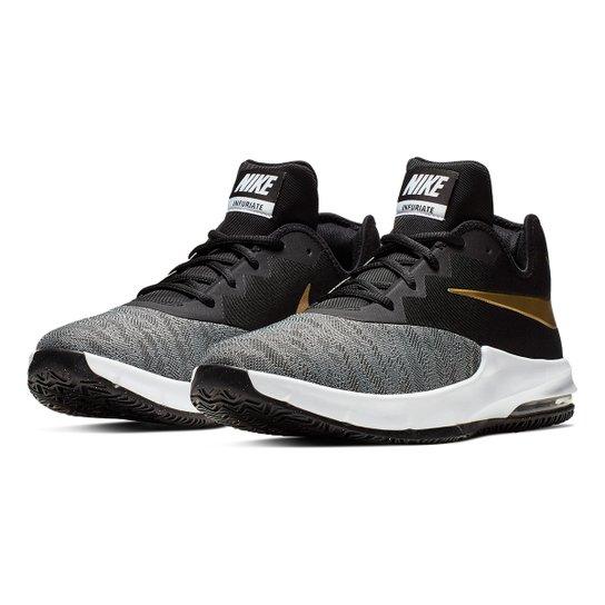 e3b4063474 Tênis Nike Air Max Infuriate III Low Masculino - Preto e Dourado ...