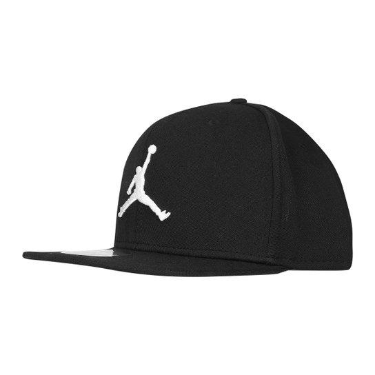 38e614a6a2 Boné Nike NBA Aba Reta Jumpman Jordan - Preto+Branco