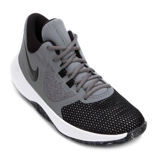 buy popular fd92b e4b5f Tênis Nike Air Precision II Masculino - Cinza+Preto