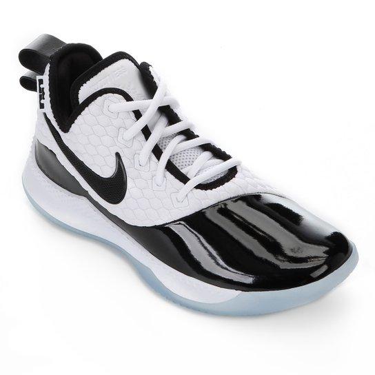 10c9b62646a Tênis Nike Lebron Witness III PRM - Branco e Preto - Compre Agora ...