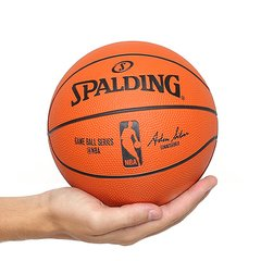 Mini Bola Basquete Spalding NBA Game Ball Réplica Outdoor Rubber Tam 3 de05b27284a05