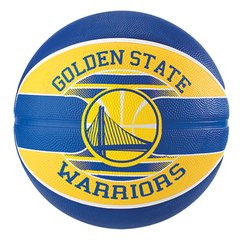 Bola de Basquete Spalding NBA Golden State Warriors Team Rubber Basketball  Tam 7 a47895747ad8e