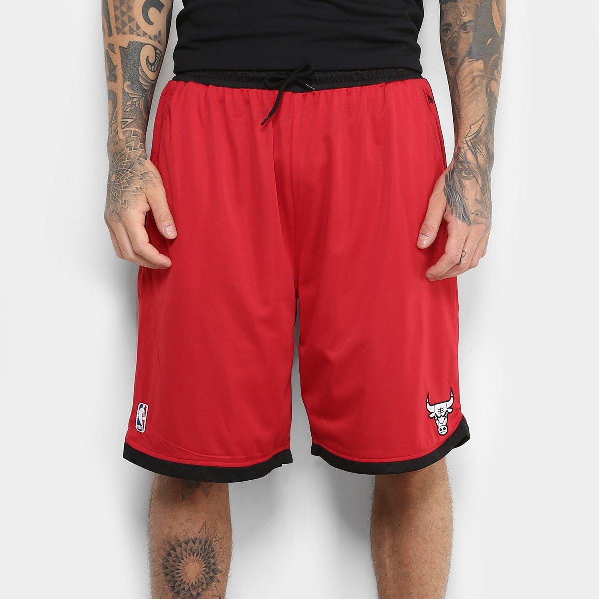 Bermuda NBA Chicago Bulls New Era Dupla Face Masculina - Compre ... 5004ddfd96011