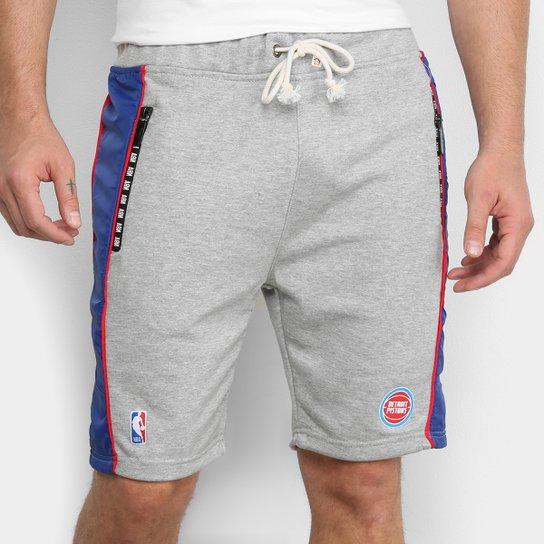 Bermuda NBA Detroit Pistons Moletom Masculina - Mescla