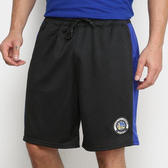 Bermuda NBA Golden State Warriors Masculina - Preto