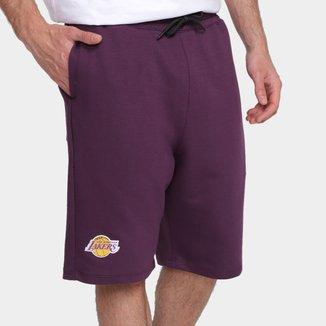 Bermuda NBA Los Angeles Lakers Moletinho Masculina