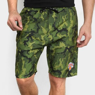 Bermuda NBA New York Knicks Camuflada Masculina