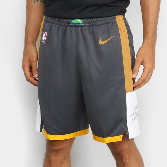 Bermuda NBA Oklahoma City Thunder Swingman CE 19 Nike Masculina - Chumbo