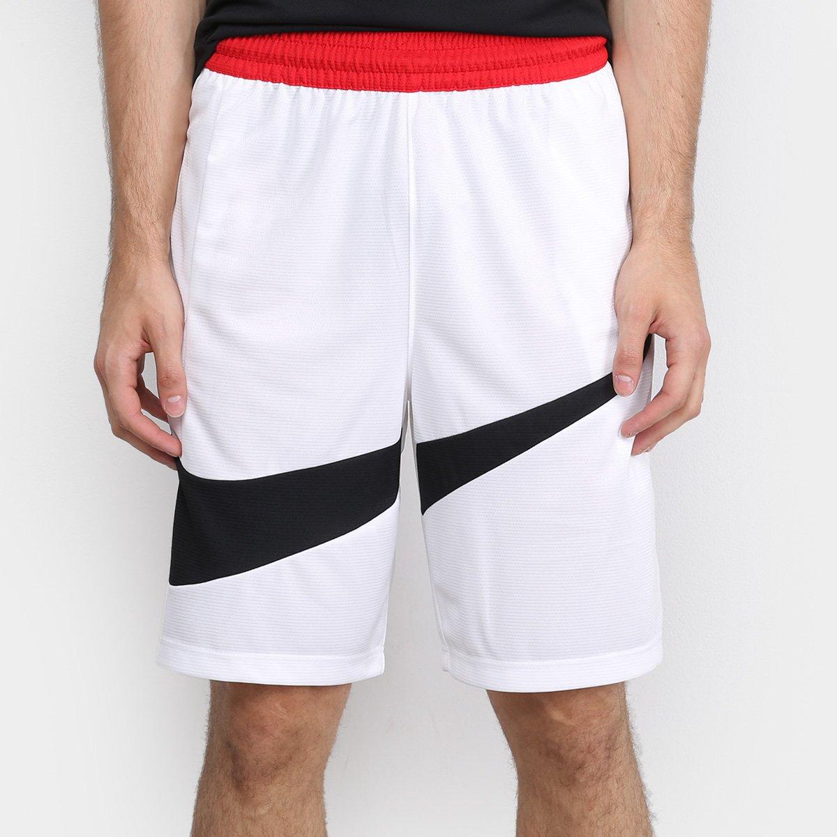llega descuento colores armoniosos Bermuda Nike Dri-Fit 2.0 Masculina - Branco e Preto | Loja NBA