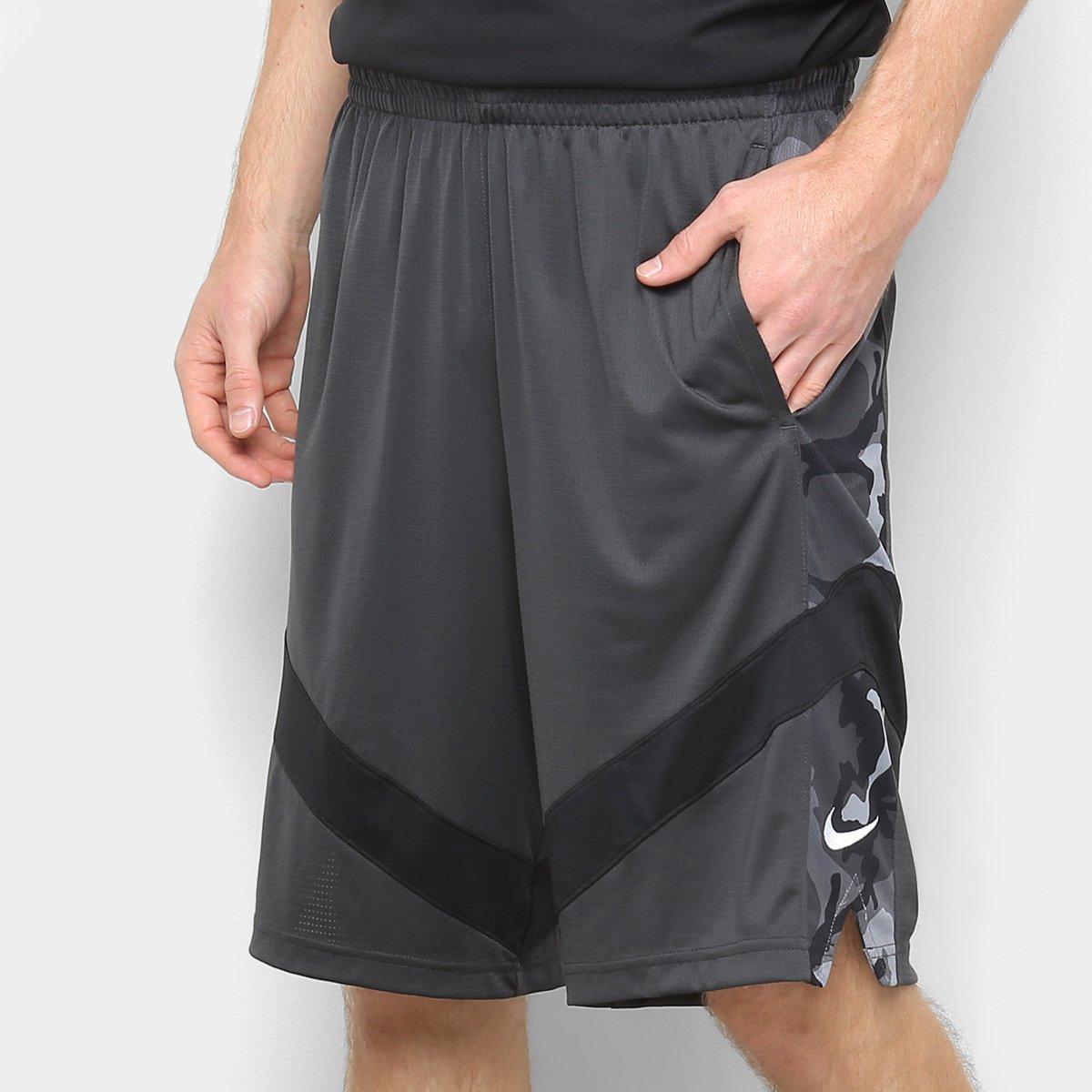 908432256 Bermuda Nike Dry Courtlines Masculina - Preto e Branco - Compre Agora