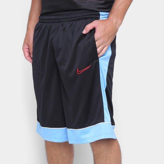 Bermuda Nike Fastebreak Masculina - Preto+Azul