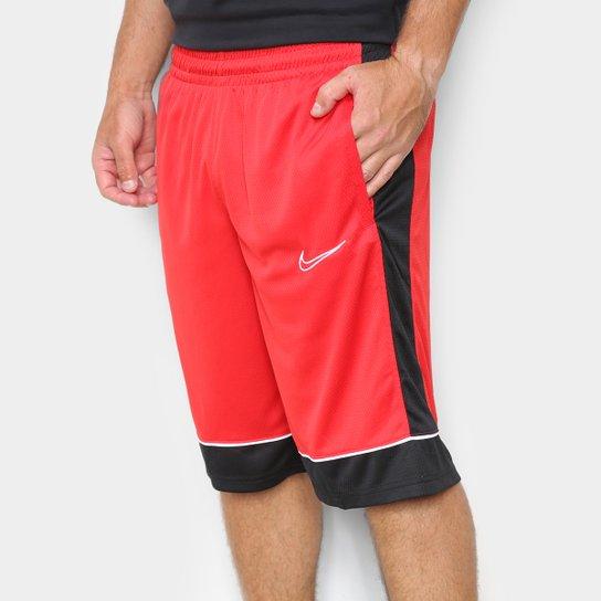 Bermuda Nike Fastebreak Masculina - Vermelho+Preto
