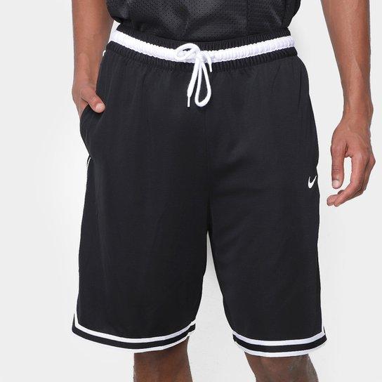 Bermuda Nike NBA Dna Masculina - Preto+Branco