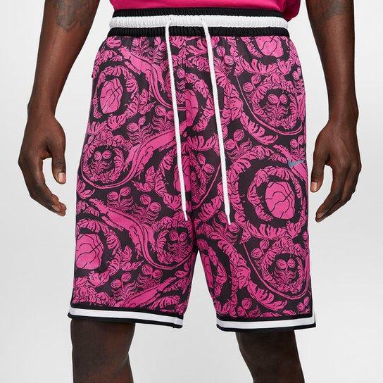 Bermuda Nike NBA Dna Printed Masculina - Preto+Pink
