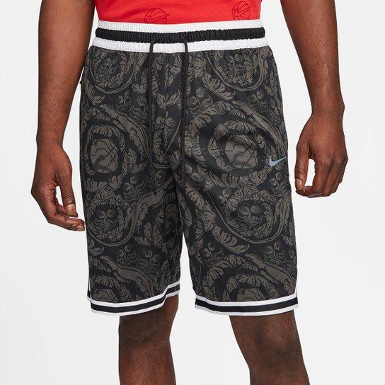 Bermuda Nike NBA Dna Printed Masculina - Preto+Cinza