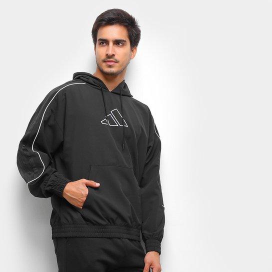 Blusa Adidas Harden Canguru Masculina - Preto