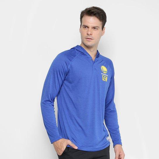Blusa Under Armour NBA GSW Combine Masculina - Azul