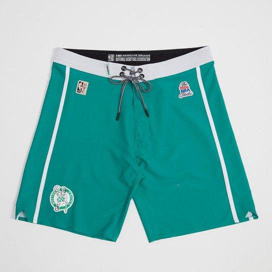 Boardshort NBA Boston Celtics Mitchell & Ness Subli Masculino - Verde