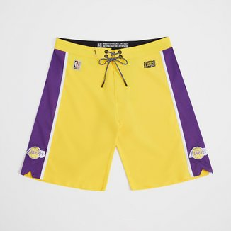 Boardshort NBA Los Angeles Lakers Mitchell & Ness Subli Masculino