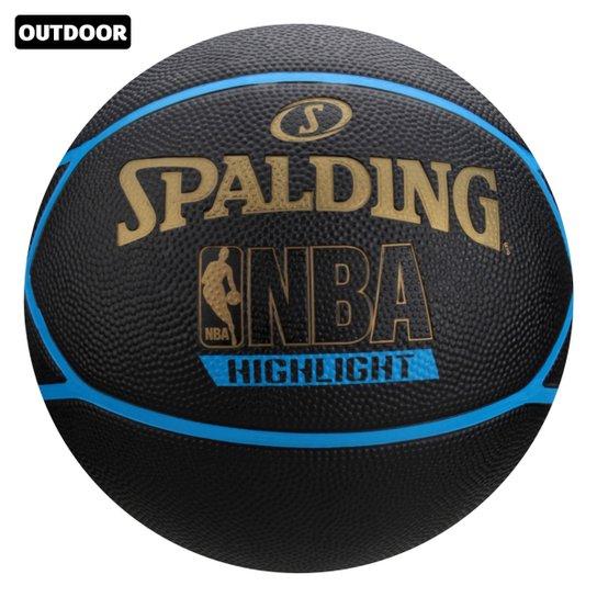 Bola Basquete NBA Spalding Highlight Tam. 7 - Preto+Azul