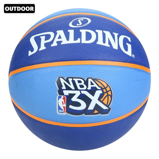 Bola Basquete Spalding NBA 3X Tam 6 - Azul+Laranja