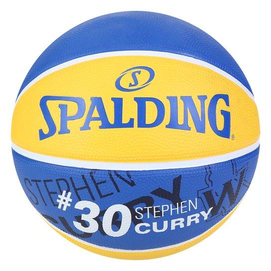 Bola de Baquete Spalding NBA Stephen Curry 30 - Amarelo+Azul