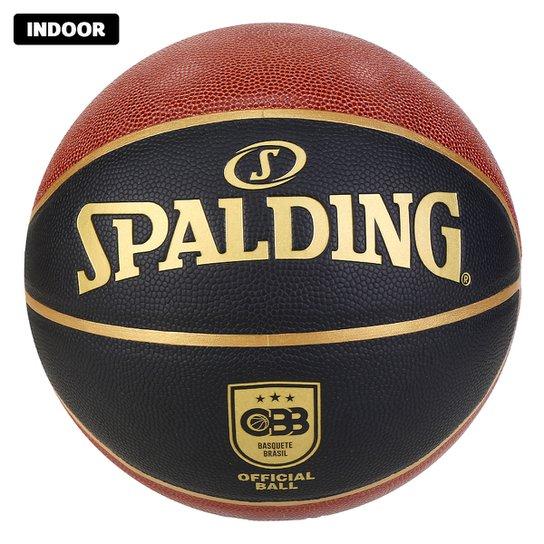 Bola de Baquete Spalding TF Oficial CBB Elite In/Outdoor - Marrom+Preto