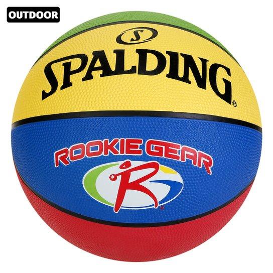 Bola De Basquete NBA Spalding Rookie Gear Outdoor Jr. - Azul+amarelo