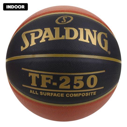 Bola de Basquete NBA Spalding TRF-250 CBB Microfibra - Laranja+Preto