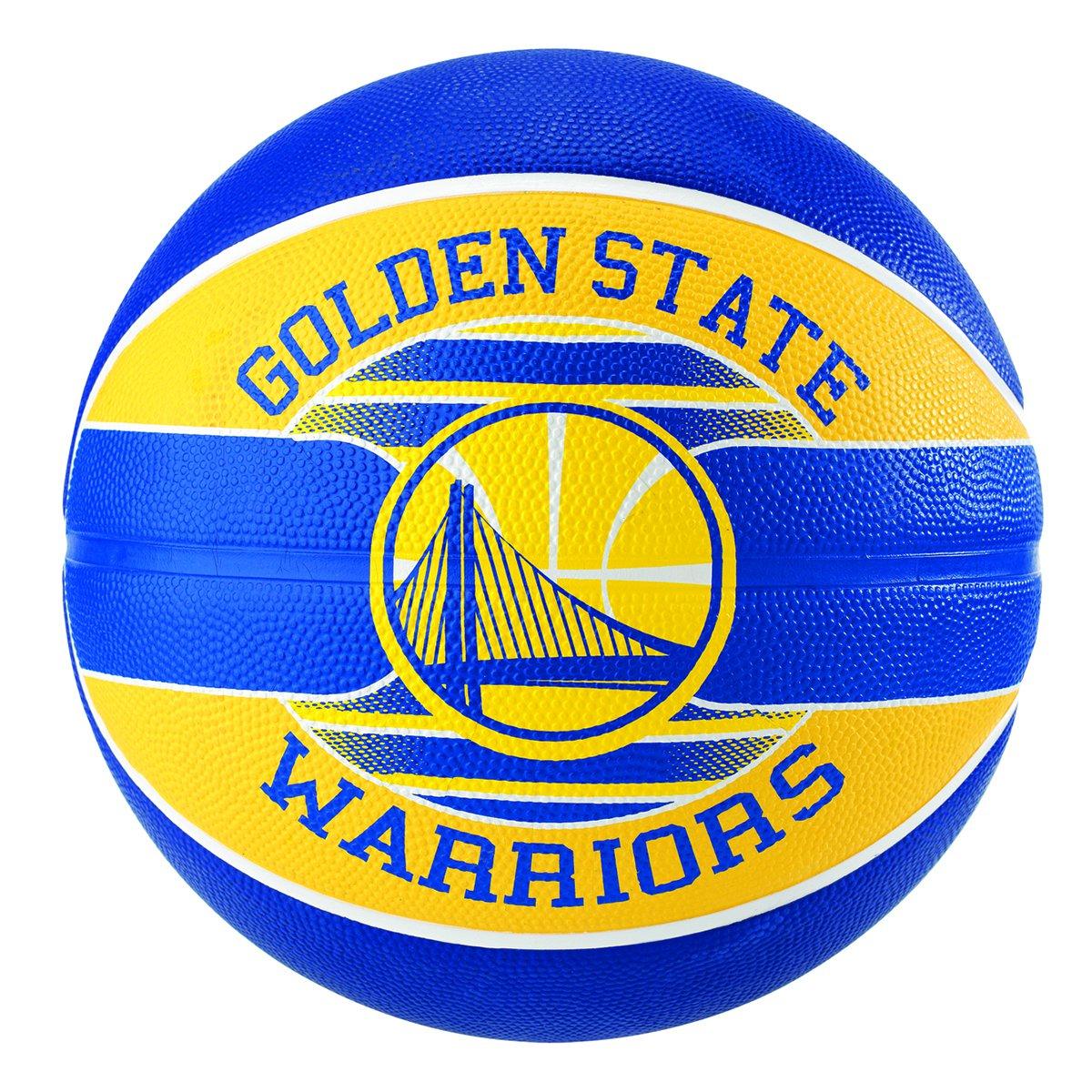 Bola de Basquete Spalding NBA Golden State Warriors Team Rubber Basketball  Tam 7 ... 284d197332b3f