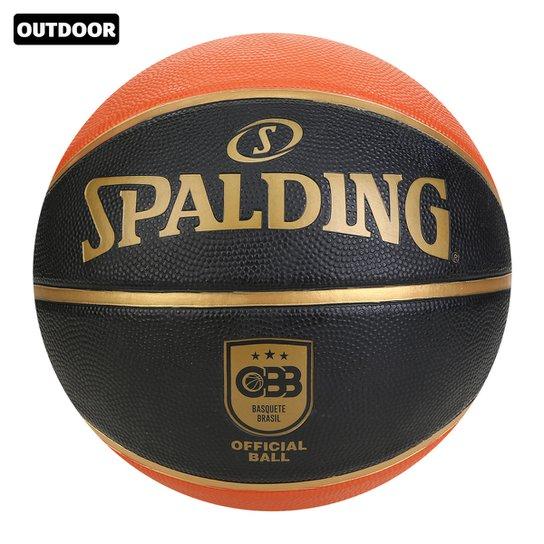 Bola de Basquete Spalding TF 150 Oficial CBB - Laranja+Preto