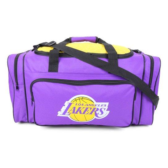 Bolsa NBA Los Angeles Lakers Esportiva Ball Bag - Roxo+Amarelo