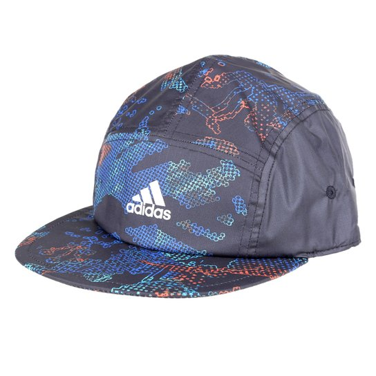 Boné Adidas James Harden Aba Reta Strapback - Cinza+Azul