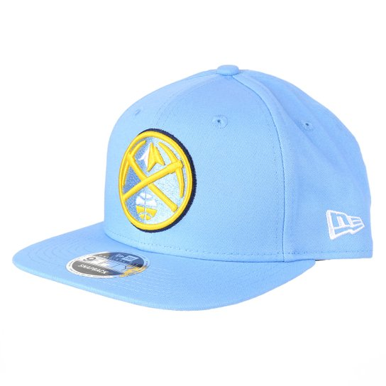 Boné NBA Denver Nuggets New Era Aba Reta Snapback 9Fifty Of Sn Primary - Azul
