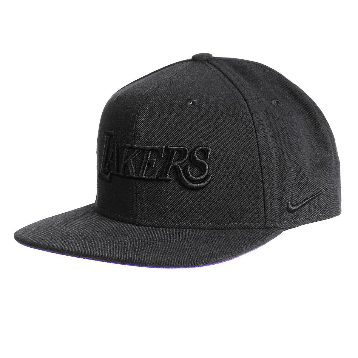 Boné NBA Los Angeles Lakers Nike Aba Reta Pro Cap - Preto - Compre Agora  dfe5ee45ef4