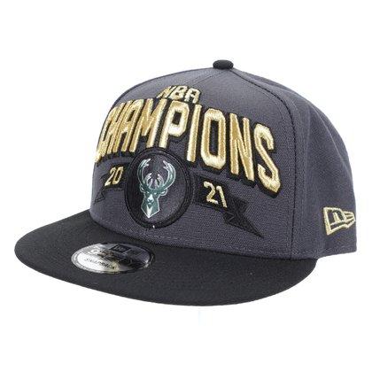 Boné NBA Milwaukee Bucks Aba Reta Snapback 950 Champion 2021