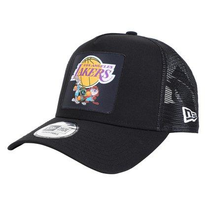 Boné New Era Los Angeles Lakers Space Jam Aba Curva Snapback Character Trucker