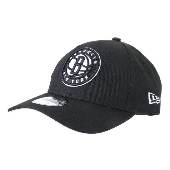 Boné New Era NBA Brooklyn Nets Aba Curva Snapback 940 - Preto