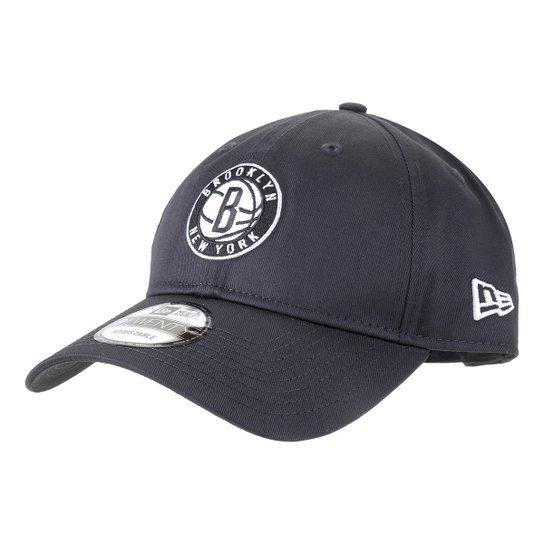 Boné New Era NBA Brooklyn Nets Aba Curva Strapback 920 - Preto