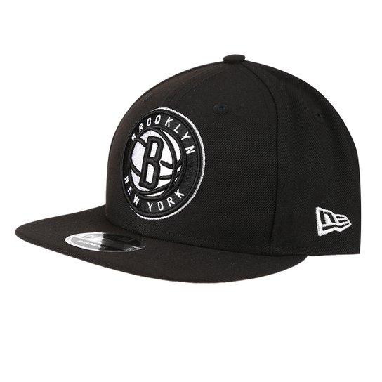 Boné New Era NBA Brooklyn Nets Aba Reta Primary - Preto