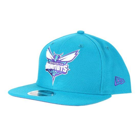 Boné New Era NBA Charlotte Hornets Aba Reta Snapback 9Fifty Of Sn Primary - Verde água