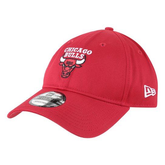 Boné New Era NBA Chicago Bulls Aba Curva Strapback 920 - Vermelho